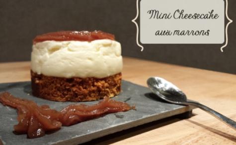 Mini-cheesecakes aux marrons