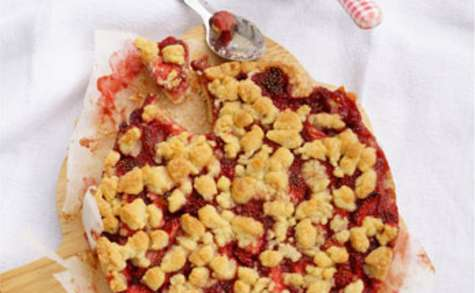 Gâteau à la fraise et son crumble
