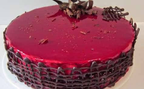 Bavarois framboises et chocolat