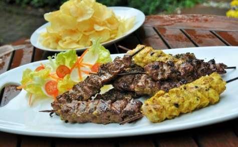 Barbecue de brochettes de viande grillée