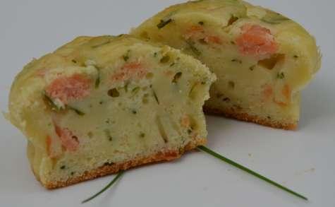 Cake au saumon et ciboulette