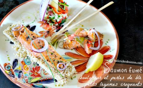 Salade de saumon fumé boulghour et tartare légumes