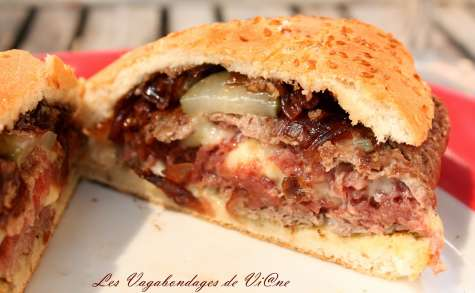 Hamburgers au Brie, au barbecue