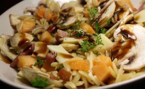 Salade fraîcheur lardons, champignons, melon