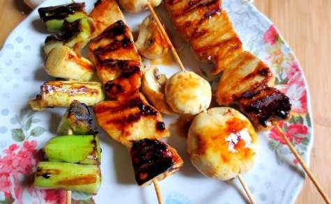 Brochettes de Thon et Légumes à la Japonaise