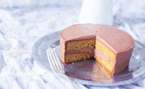 Gâteau praliné avec ganache montée au chocolat praliné