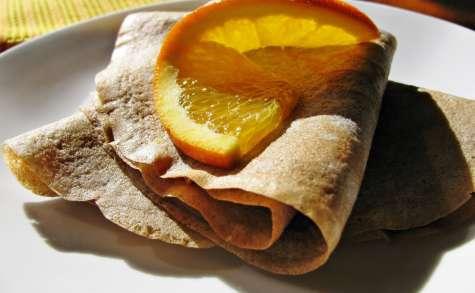 Crêpes au teff et à l'eau de fleur d'oranger
