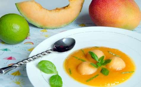 Soupe de melon, mangue et citron vert