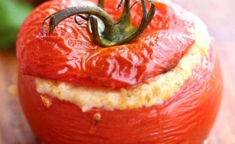 Tomates farcies mozzarelle et jambon blanc