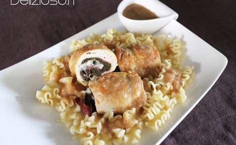 Saltimbocca de poulet aux épinards et au chèvre
