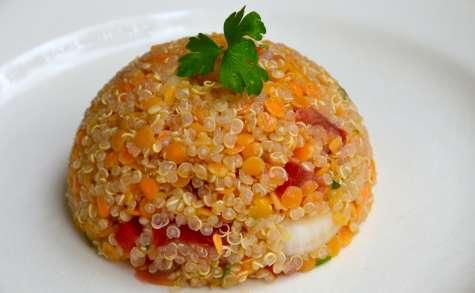Salade de quinoa aux lentilles corail
