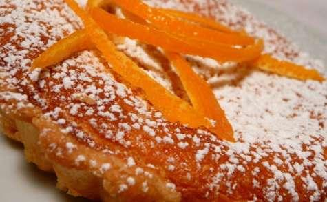 Tarte à la ricotta et à l'orange.