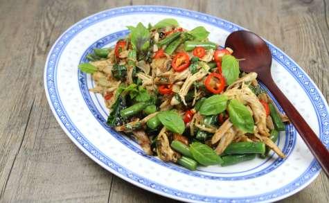 Poulet sauté au basilic façon thaï