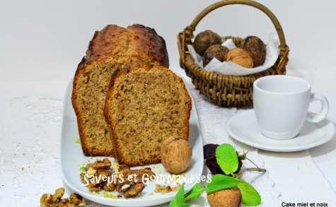 Cake au miel et aux noix