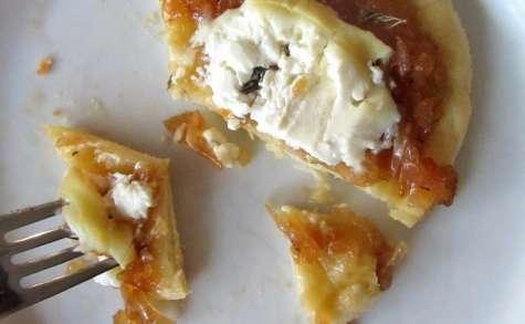 Pizza aux oignons de Roscoff confits et au fromage de chèvre