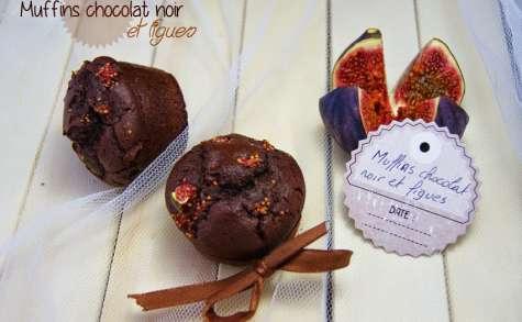 Muffins chocolat noir et figues