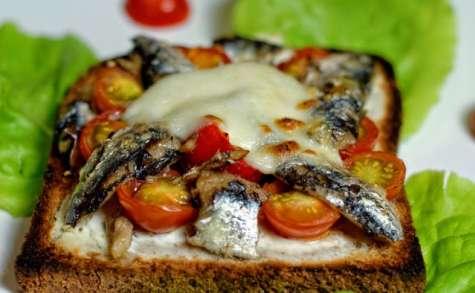 Tartine aux sardines