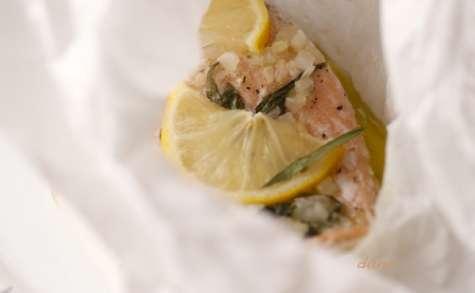 Papillote de saumon sauvage au pastis et à l'estragon