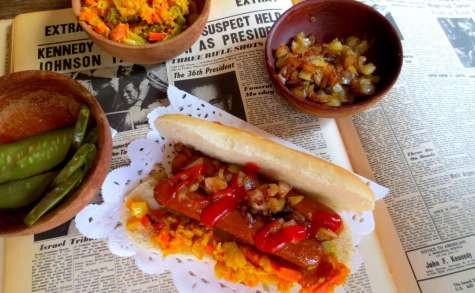 Hot-Dogs Vegan et leur Garnitures (Achards créole)