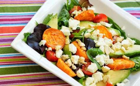 Salade de patates douces rôties au piment et citron
