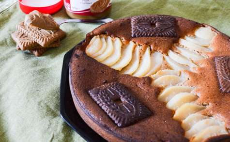 Gâteau moelleux poires, speculoos et mascarpone