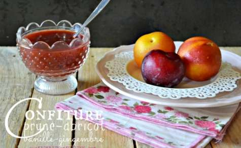 Confiture prunes abricots vanille gingembre