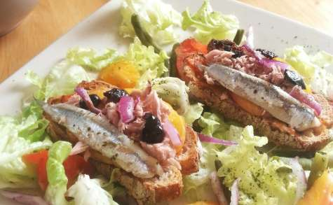 Bruschetta thon et anchois