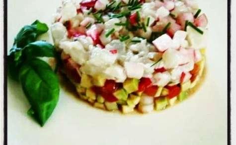 Ceviche de gambas et son tartare de légumes