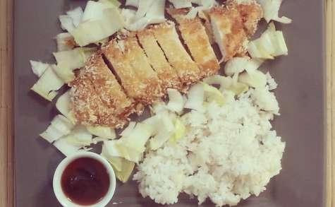 Chicken Katsu le poulet frit japonais