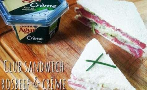 Club sandwich rosbeef crème de Saint Agur