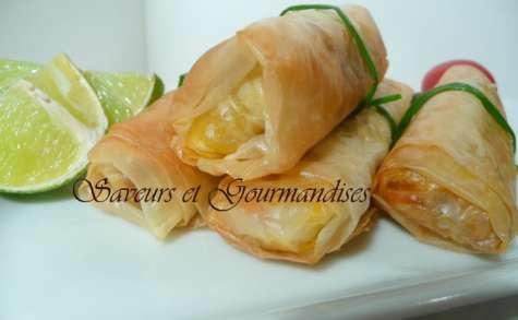 Boureks poulet fromage