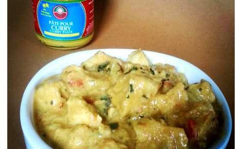 Poulet lait de coco et curry