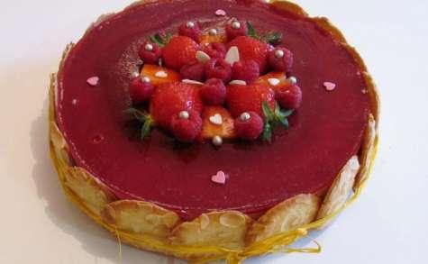Entremet fraise - framboise et citron
