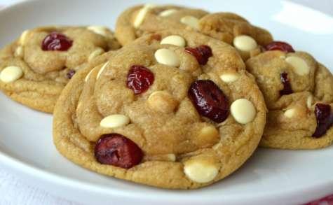 Cookies au chocolat blanc et aux canneberges