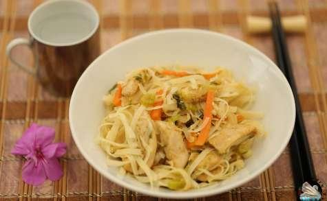 Nouilles de Singapour au poulet