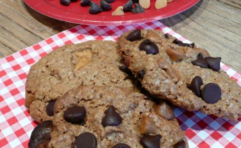Cookies à l'avoine pépites caramel et chocolat