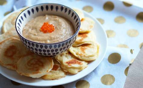 Tarama et blinis maison par Pretty Chef