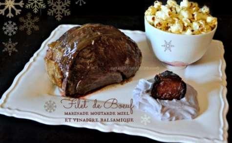 Roti Filet Boeuf enrobé de marinade froide après la cuisson