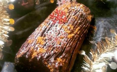 Bûche Poire Ganache Chocolat Speculoos