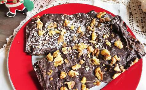 Turrón de Fruits Secs et Chocolat