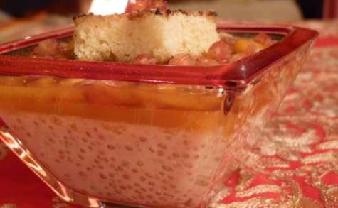 Triffle tapioca pudding lait de coco et fruits exotiques
