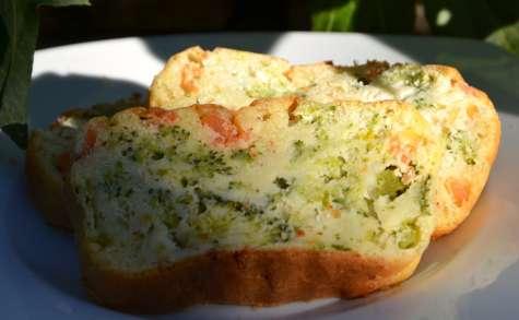 Cake au saumon et brocolis