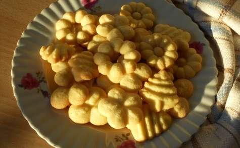 Biscuits danois au beurre, à la presse à biscuits (Danish butter cookies)