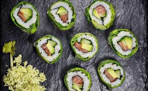 California Rolls (ou Makis inversés) printemps au Wasabi frais