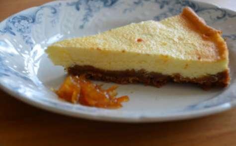 Cheesecake et confiture de kumquats