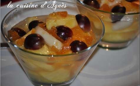 salade de fruits au caramel
