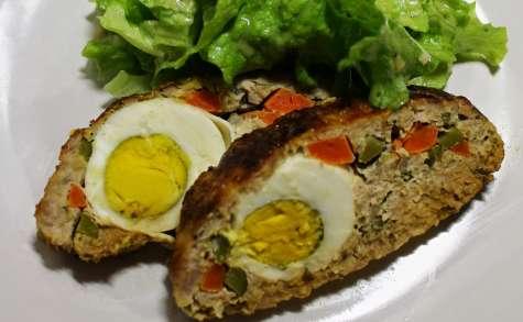 Pain de viande garni aux œufs durs (Rouleau Stéphanie)