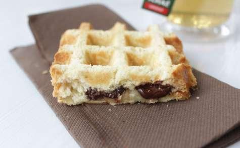 Brioche gaufrée chocolat banane