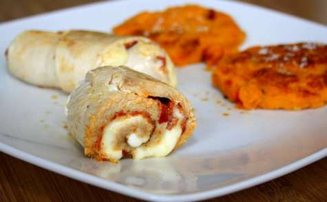 Roulé de dinde au chorizo et mozzarella