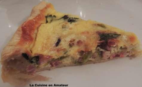 Quiche aux légumes, fromage et lardons